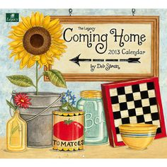 Coming Home Wall Calendar: This 2013 Wall Calendar features the delightful country artwork of beloved folk artist Deb Strain. This 12-month calendar is printed on high-quality, linen-embossed paper that has a distinctive, luxurious feel to it, and comes in a protective envelope.  $15.99  http://calendars.com/Assorted-Folk-Art/Coming-Home-2013-Wall-Calendar/prod201300003933/?categoryId=cat00033=cat00033#