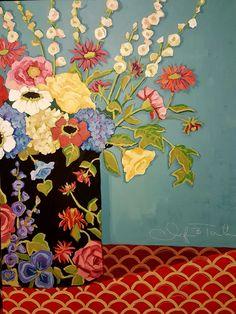 Dearie acrylic on canvas 30 by 40 original art by Jennifer Toolan