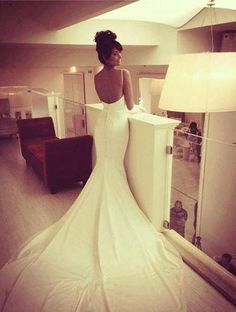 amazing perfectly fit this is exactly how i picture my wedding dress Berta Bridal, Bridal Gowns, Wedding Wishes, Wedding Bells, Dream Wedding Dresses, Wedding Gowns, Backless Wedding, Elle Magazine, Dream Dress