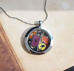 Locket with Real Mini Book and Halloween by TheBookSwagShop