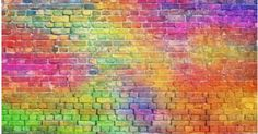 painted brick wall, abstract background of different colors Brick Wall Background, Rainbow Background, Painted Brick Walls, Paint Brick, Cheese Stuffed Shells, Red Bricks, Abstract Backgrounds, Different Colors, Paint Colors