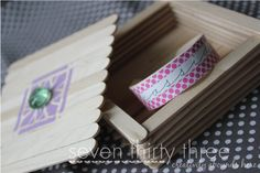 seven thirty three - - - a creative blog: Scribble Challenge - Craft Stick Bracelet with Custom Gift Box