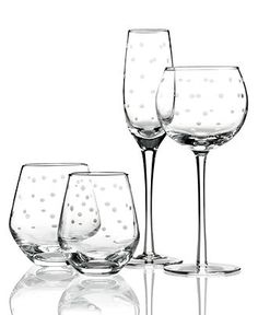 kate spade new york Glassware, Larabee Dot Sets of 4 Collection - Glassware - Dining & Entertaining - Macy's