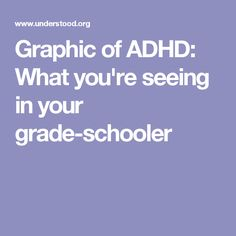 Graphic of ADHD: What you're seeing in your grade-schooler