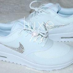 timeless design d8b77 95c30 Image of Nike Air Max Thea w Swarovski Crystals detail - white white Nike