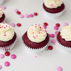 Surprise your Valentine with this sweet, Red Velvet Surprise Cupcakes!