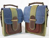 Colorful Leather Messenger Bag, Handmade Leather Satchel, Shoulder Bag