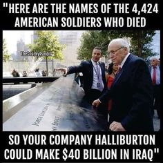 Iraq ~ War of lies based on greed. Corporate Crime, Out Of Touch, American Soldiers, American Veterans, American Indians, Republican Party, Gop Party, Trump, How To Get Rich