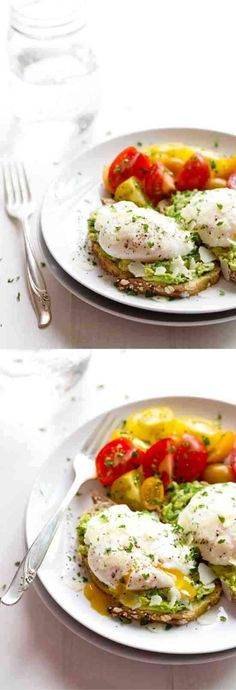 avocado, bread, breakfast, cheese, creamy, egg, healthy, parmesan, recipes, tomato, vegan