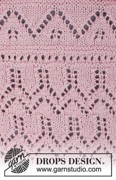 Mette / DROPS 160-4 - DROPS bolerko s krajkovým vzorem pletené z příze BabyAlpaca Silk. Velikost: S-XXXL.