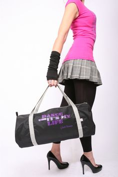 Dance Class Bag Barrel - Black