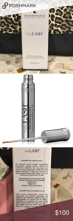 neuLash neuLASH Lash Enhancing Serum is a nutrient-rich formula that delivers benefits beyond conditioning. Fortified with Active Eyelash Technology®, it dramatically improves the appearance of weak eyelashes with just 30 days of use. Sodium hyaluronate, known for its ability to hold 1000 times its weight in water, saturates your lashes in hydration, boosting softness, elasticity and shine. Makeup