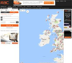 Rac Travel Route Planner   Distination co Rac Route Planner Map Travel Motor Ui