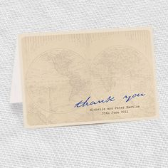 Travel themed wedding stationary--great for a destination wedding.