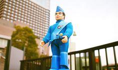 大阪ブリキ玩具資料室製 サンダーバード スコット・トレーシー 外箱付き Toy Garage, Vinyl Figures, Hero