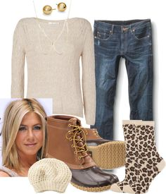 """""""Fresh Face Snow Day"""" on Polyvore #LLBEAN BOOTS #beanboots #duckboots"""