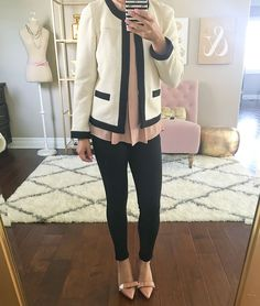 Review: Ponte Skinny Ankle Pants, Textured Open Jacket, Petite Ankle Jeans