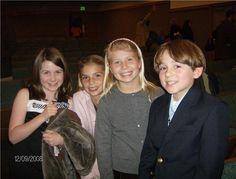 Last Spring concert, 5th grade. Bridget, Sarah, Bea and Haddon.