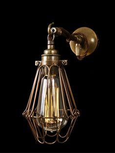 37c5bc2af717 Vintage cage wall light, Vintage wall light - Holloways of Ludlow Vintage Wall  Lights,