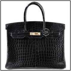 Black croc; really want something like this for a diaper bag-purse combo...