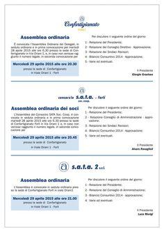 Le assemblee ordinarie di Confartigianato Forlì e strutture collegate