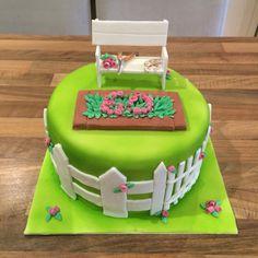 60th Birthday Cake - Gardening Garden Cake