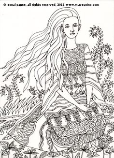 #ColoringPage from 'The Gardens of Quirly'. Available on Amazon - https://www.amazon.com/dp/1522932208