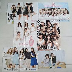 Kpop + Group / Solo Posters  Condition 10/10 Double sided, folded From Teenage/Teens magazine~ $2 each!  PICTURE 1 & 2: -Brown Eyed Girls / Peter Pan ❗SNSD World Tour / Taylor Swift (Reserved) -KARA / 2NE1 DARA -SNSD / After School ❗️Wonder Girls (one side only) (Reserved) -SNSD Seohyun & Sooyoung / SHINee & F(x) Victoria    PICTURE 3 & 4: -IU & Jang Geun Suk / Avril Lavigne ❗Lee Hong Ki / YG Family Concert (RESERVED) -HyunA / L'Arc-en-Ciel -EXO-K / Super Junior (Sexy free & Single)