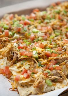 Shredded chicken adds protein to nachos, so you can totally fill on up on them without guilt. Get the recipe from Urban Cookery.
