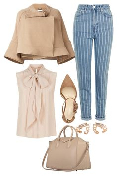 """""""Untitled #11047"""" by beatrizibelo ❤ liked on Polyvore featuring Chloé, Nine West, MaxMara and Topshop"""