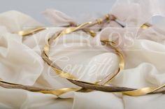 Στέφανα | VOURLOS CONFETTI | Γάμος & Βάπτιση | Μπομπονιέρες - Προσκλητήρια - Κουφέτα Napkin Rings, Wedding Crowns, Bangles, Jewelry, Decor, Jewellery Making, Decoration, Decorating, Jewels