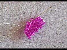 Odd Count Flat Peyote with Tapered End (+playlist)  ~ Seed Bead Tutorials
