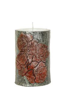 Handmade Candle  Rose Theme Candle  Holiday by MeryemAsmaCrafts