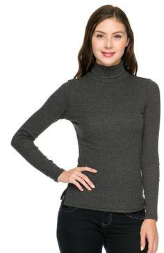 Trendy Slim Fit Long Sleeve Turtleneck