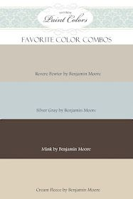 Color Combos with Revere Pewter by Benjamin Moore. Like Revere Pewter Wall Colors, House Colors, Paint Colours, Neutral Colors, Hallway Colors, Neutral Palette, Accent Colors, Colour Schemes, Color Combinations