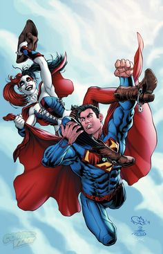Action Comics #39 variant cover - Harley Quinn & Superman by Nicola Scott, Danny Miki, and Jeremy Cox *