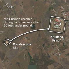 the path of escape by el-Chapo