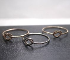 Rose Gold Love Knot Ring - Uncovet