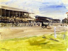 The Athenaeum - Harness Racetrack in Ruhleben (Max Slevogt - )