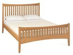 ALBA Oak High Footend Bed Frame - Kingsize