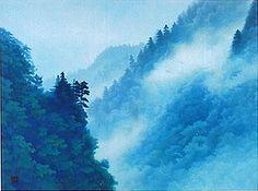 Kaii Higashiyama, Cloud in a Gorge, 2005 Japanese Painting, Japanese Art, Japanese Mountains, Eastern Philosophy, Mountain Paintings, Clouds, Artist, Artwork, Prints