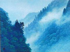 'Cloud in a Gorge' lithograph by Kaii HIGASHIYAMA
