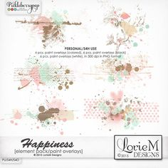 Happiness Paint Overlays by Lorie M Designs are a lovely compliment to the Happiness Kit