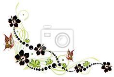 """Papier peint """"ibiscus, fleurir, fleurir - hibiscus, hibiscus, ranke, flore, fleur, fleurs, coloré"""" ✓ Un large choix de matériaux ✓ Impression écologique 100% ✓ Regardez des opinions de nos clients !"""