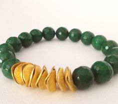 Jade Stone Stretch Bracelet-Mala Bracelet- Yoga Bracelet- Meditation Bracelet- Healing Bracelet-Good Luck Bracelet- Emerald Green Bracelet by SolBrisa on Etsy https://www.etsy.com/listing/198765509/jade-stone-stretch-bracelet-mala