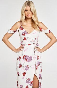 Main Image - Bardot Floral Midi Dress