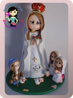 Foam Crafts, Diy Crafts, Mother Mary, Communion, Santos, Biscuits, Pasta, Dolls, Christmas