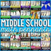 middle school math pennant bundle