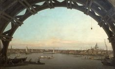 Canaletto London seen through an arch of Westminster Bridge (1747) Poster Wall Mural