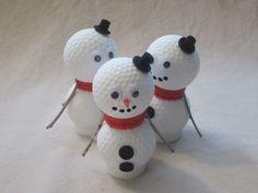 Golf Ball Snowmen See more at https://www.facebook.com/KraftsNKaboodles